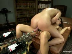 India Summer and Aiden Aspen have crazy hole stretching fun