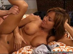Hot bodied brunette mom Tara Holiday with big tits and