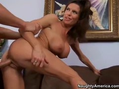 Big racked cougar Veronica Avluv seduces her son's buddy Seth