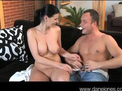 DaneJones Busty wife lets him come in her ass