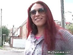 Sexy redhead babe gets horny walking part1