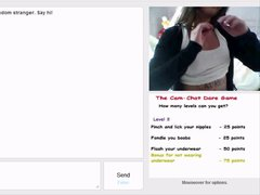 Brunette Teen Flashes on Omegle