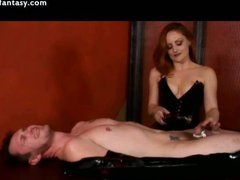 Dude in latex licking wet cunt