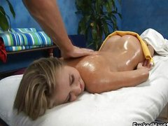 Sexy blonde girl loves getting a sensual
