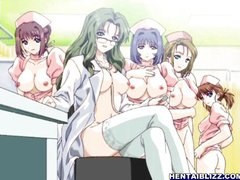 Naughty busty hentai doctor fucked by doctor