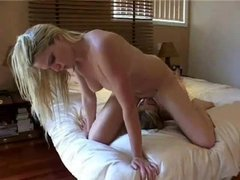 She sits on face of tied up girl