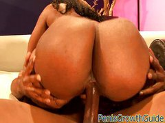 Big ass ebony gets nailed