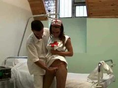 Fucking the naughty nurse in her box