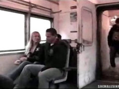 Tranny Jizzed On in a Train!