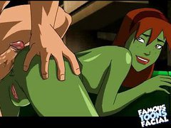 Justice League anal creampie