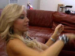 Angel Mature swallowing