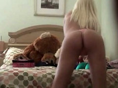 Teens open their tight pussies