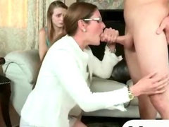 Stepmom caught her daughter having sex with her bf