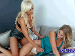 sexy blonde sharing a hot massage