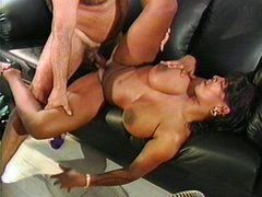Busty black bitch professionally banged
