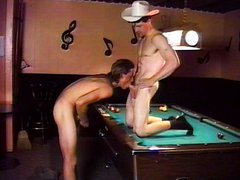 Gays playing billiard their way