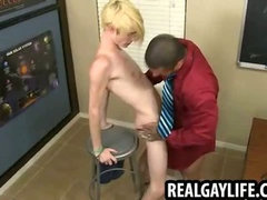 Twink getting his ass fucked by a muscular stud