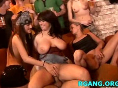 Group of girls get nailed