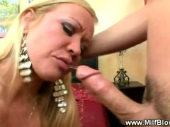 Mommy sucking dirty cock hard pov style