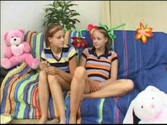Twin young teen babysitters earn there bonus