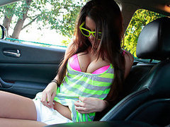 Huge rack amateur girlfriend gives head and snatch drilled