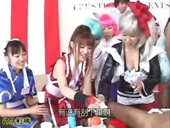 Indecent Japanese females lacking self-control of their pookies get wild in this game show