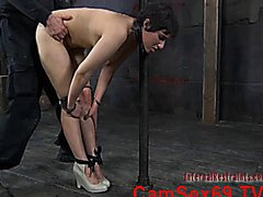 BDSM Blowjob and Doggystyle fucking with spanking