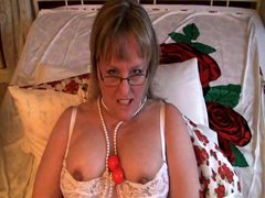 Blonde Mature Solo Play
