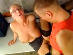 Blonde With saggy Tits Fucked