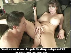 Badass milf does blowjob for young guy and has her pussy licked