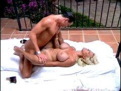 Bodacious blonde milf fucked at the pool