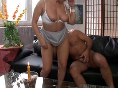 Mature woman fucks and...SQUIRTING MANY TIMES!