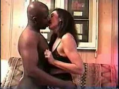 Wife enjoys a big black cock and hubby films