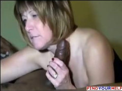 Older wife suck huge black cock
