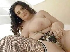 Chubby plays with herself