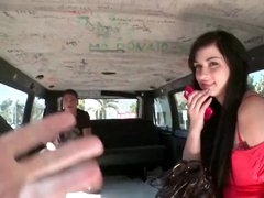 Brunette teen gets picked up by horny dude