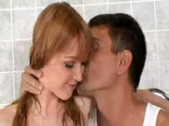 Slutty Redhead Gets Fucked in the Shower